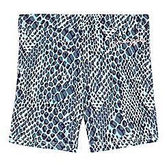Pineapple - Girls' turquoise snake print shorts