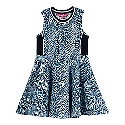 Pineapple - Girls' turquoise snakeskin-effect sports dress