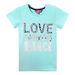 Pineapple - Girls' turquoise 'Love. Pineapple. Dance' t-shirt