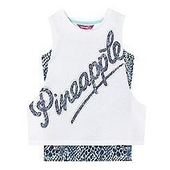 Pineapple - Girls' white two piece vest