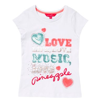 Pineapple Girls white sequin music t-shirt product image