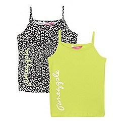 Pineapple - Girls' pack of two multi-coloured animal print vests