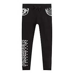 Pineapple - Girls' black logo print jogging bottoms