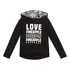 Pineapple - Girls' black logo hoody