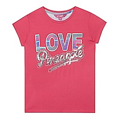 Pineapple - Girls' pink logo sequin embellished t-shirt