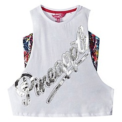 Pineapple - Girls' white logo print insert vest
