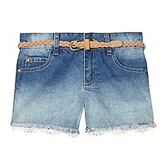 Mantaray - Girls' mid blue denim shorts