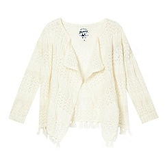 Mantaray - Girls' cream knitted kimono cardigan