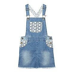 Mantaray - Girls' mid blue denim pinafore