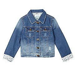 Mantaray - Girls' mid blue denim jacket