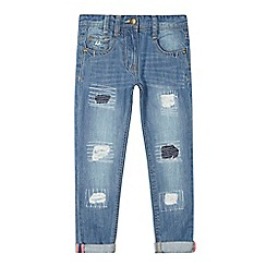 Mantaray - Girls' light blue ripped-effect jeans