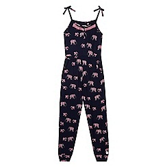 Mantaray - Girls' elephant print jumpsuit