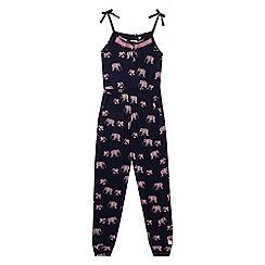 Mantaray - Girls' elephant print jumpsuit