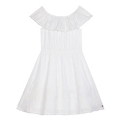 Mantaray - Girls' white embroidered dress