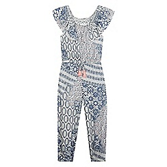 Mantaray - Girls' multi-coloured tile print jumpsuit