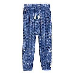 Mantaray - Girls' blue harem style trousers