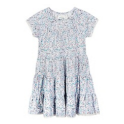 Mantaray - Girls' light pink butterfly print jersey dress
