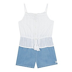 Mantaray - Girls' blue strappy playsuit