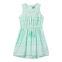 Mantaray - Girls' green and white Aztec print dress