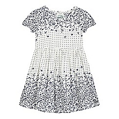 Mantaray - Girls' white floral pattern print dress