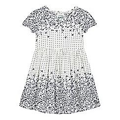 Mantaray - Girls' white floral pattern print dress