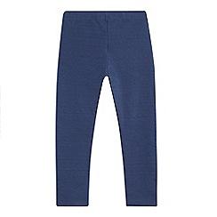 Mantaray - Girls' navy textured leggings
