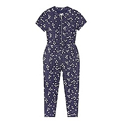 J by Jasper Conran - Girls' navy floral jumpsuit
