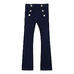 J by Jasper Conran - Girls' dark blue button detail bootcut jeans