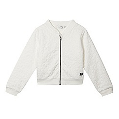 J by Jasper Conran - Girls' white floral jacket