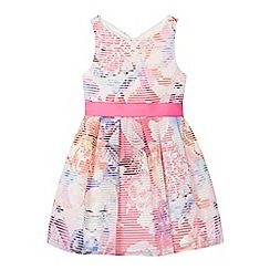 J by Jasper Conran - Girls' pink burnout stripe dress