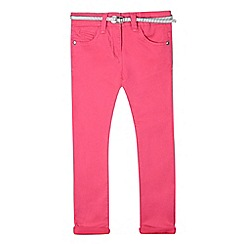 J by Jasper Conran - Girls' pink belted skinny jeans