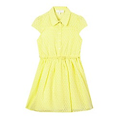J by Jasper Conran - Girls' yellow floral shirt dress