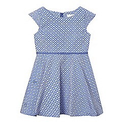 J by Jasper Conran - Girls' blue textured daisy dress