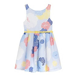 J by Jasper Conran - Girls' multi-coloured burnout floral print dress