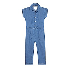 J by Jasper Conran - Girls' dark blue denim jumpsuit