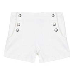J by Jasper Conran - Girls' white button pocket shorts