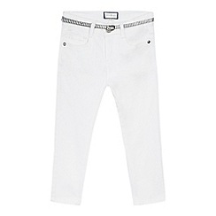 J by Jasper Conran - Girls' white belted crop jeans
