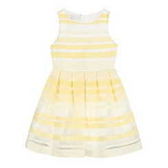 J by Jasper Conran - Girls' yellow striped dress