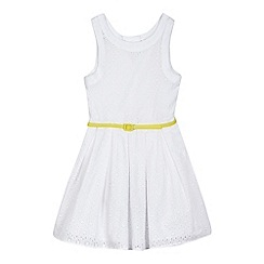 J by Jasper Conran - Girls' white belted prom dress