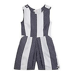 J by Jasper Conran - Girls' navy striped playsuit