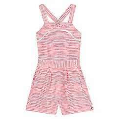 J by Jasper Conran - Girls' red and white striped print and dot playsuit