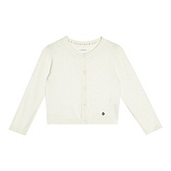 J by Jasper Conran - Girls' white pointelle cardigan