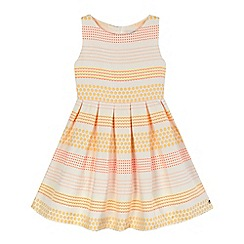 J by Jasper Conran - Girls' pink and white printed sleeveless dress