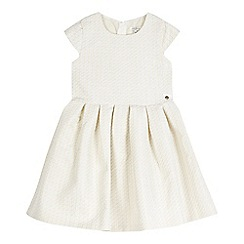 J by Jasper Conran - Girls' cream gold sparkle jacquard dress