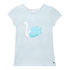 J by Jasper Conran - Girls' off white sequin striped t-shirt