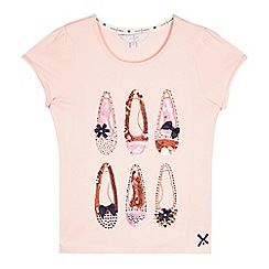 J by Jasper Conran - Girls' pink sequin t-shirt