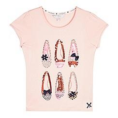 J by Jasper Conran - Girls' pink sequin t-shirt