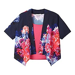 RJR.John Rocha - Girls navy kimono and cami set