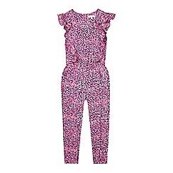 RJR.John Rocha - Girls' pink frill front jumpsuit