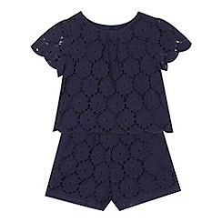 RJR.John Rocha - Girls' navy lace blouse and shorts set